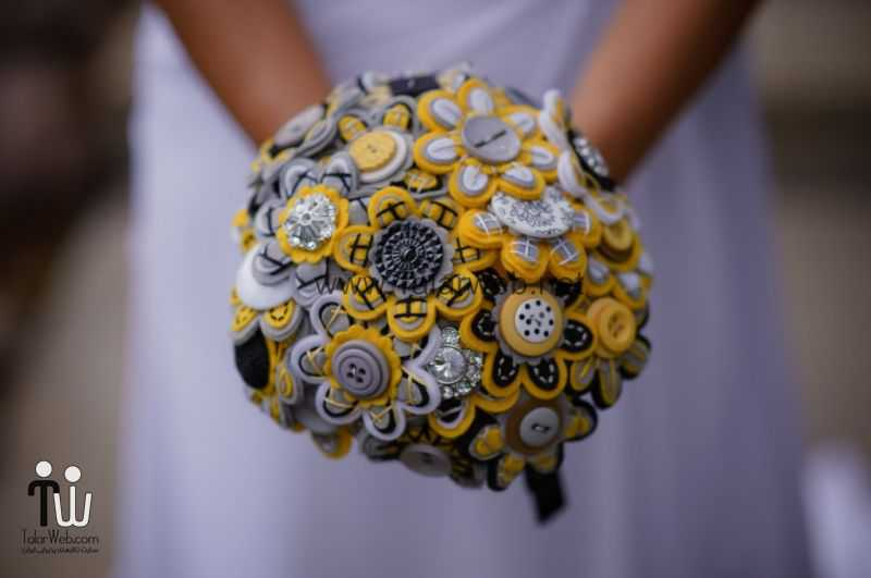 wedding-flower-alternatives-bridal-bouquets-from-etsy-yellow-black-gray.full