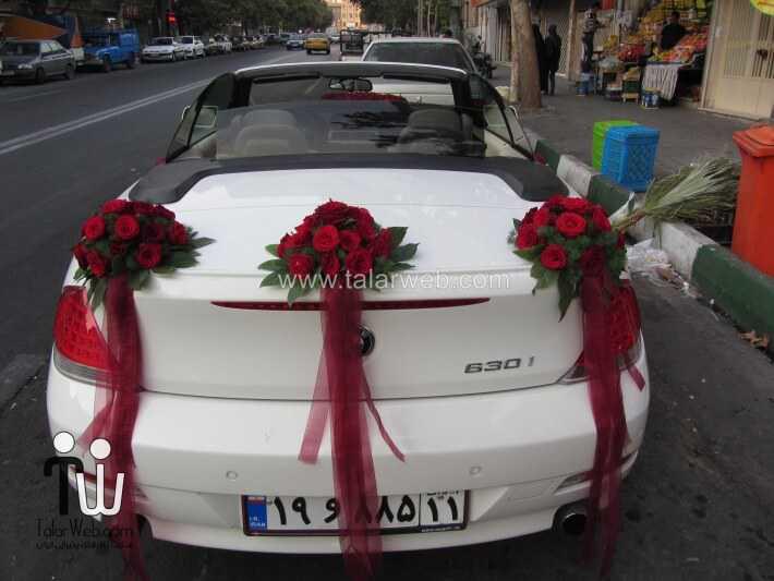weddingcar talarweb 2 2 - تزئین مدل ماشین های لوکس عروس ایرانی