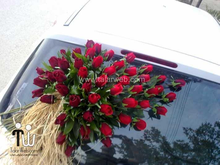 weddingcar talarweb 3 - تزئین ماشین عروس ایرانی