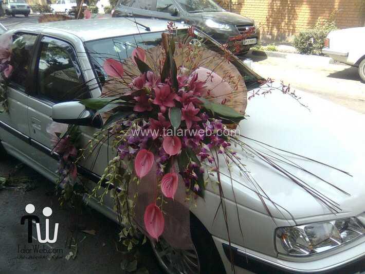 weddingcar talarweb 6 2 - تزئین مدل ماشین های لوکس عروس ایرانی