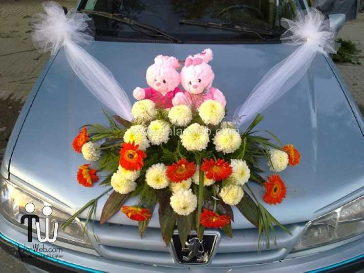 weddingcar talarweb 9 - تزئین ماشین عروس ایرانی