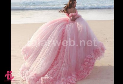 romantic pink wedding dresses princess ball 001 500x340 - جدیدترین های نامزدی