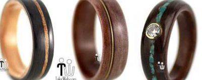 مدل حلقه چوبی دست ساز جدید ۲