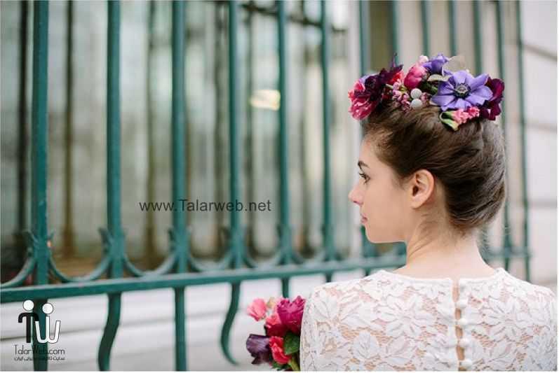 مدل گل سر برای عروس