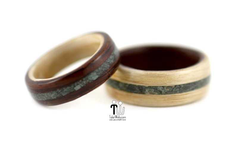 شیک ترین و جدیدترین مدلهای چوبی حلقه  عروس و داماد ۲۰۱۶