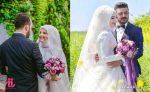 عروس و داماد با حجاب