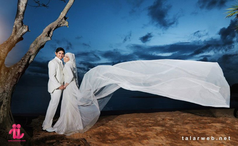 عکس عروس و داماد باحجاب جدید
