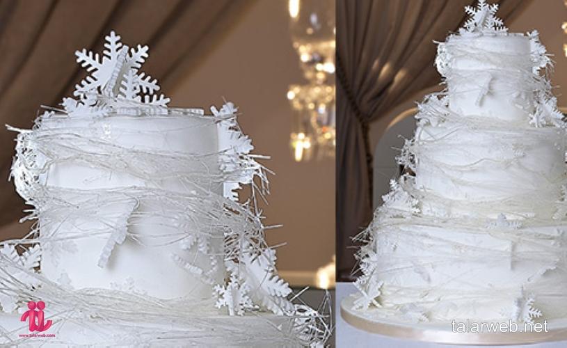 کیک عروسی زمستانی