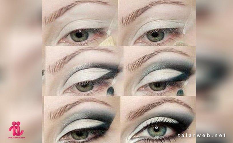 Untitled 11 001 2 - آرایش چشم سبز با پوست سفید