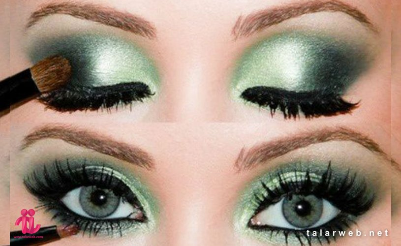 Untitled 20 001 1 - آرایش چشم سبز با پوست سفید