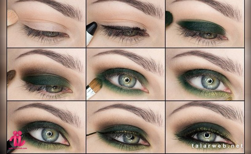 Untitled 23 001 1 - آرایش چشم سبز با پوست سفید