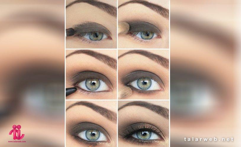 آرایش چشم سبز با پوست سفید