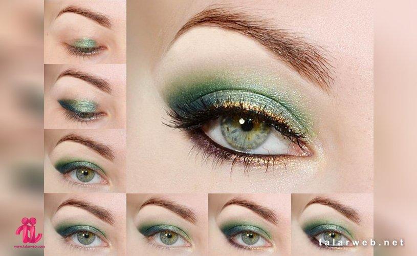 Untitled 2 001 3 - آرایش چشم سبز با پوست سفید