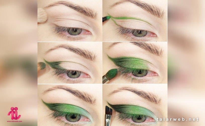 Untitled 4 001 3 - آرایش چشم سبز با پوست سفید