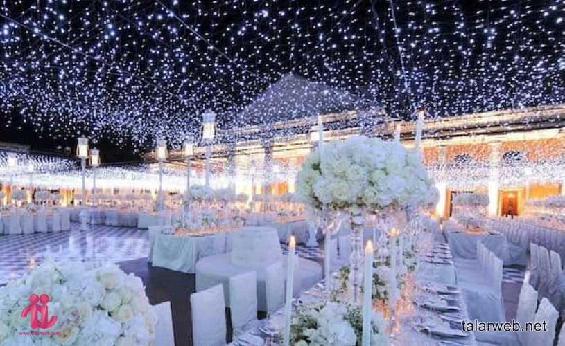 آتشبازی و نورافشانی در تالار عروسی