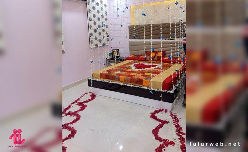 تزیین تخت خواب عروس