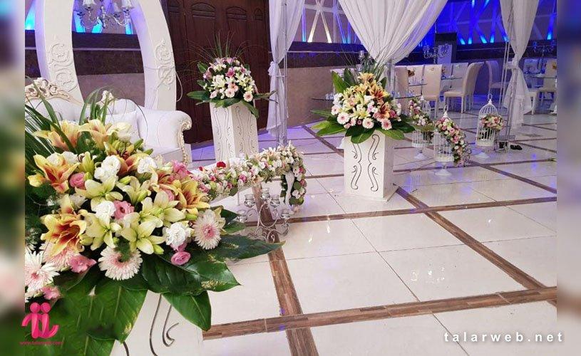 تالار عروسی و گل آرایی و نحوه گل آرایی در تالارعروسی