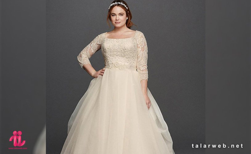 نکات مهم در انتخاب لباس عروس سایز بزرگ