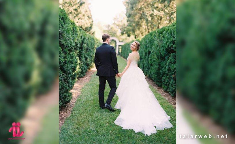 انواع ژست های عروس و داماد