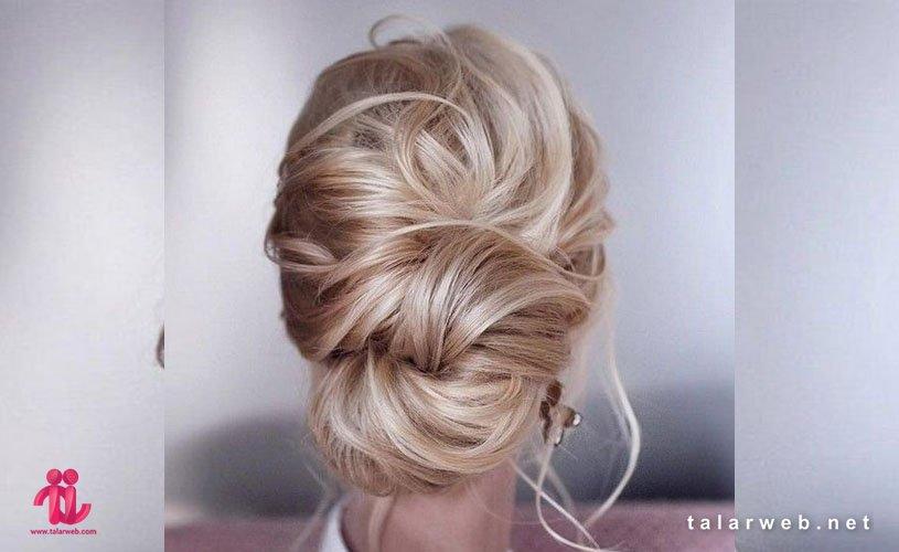 تکنیک های شینیون موی عروس