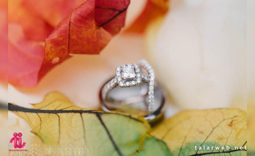 ایده عکاسی از حلقه ازدواج در پاییز