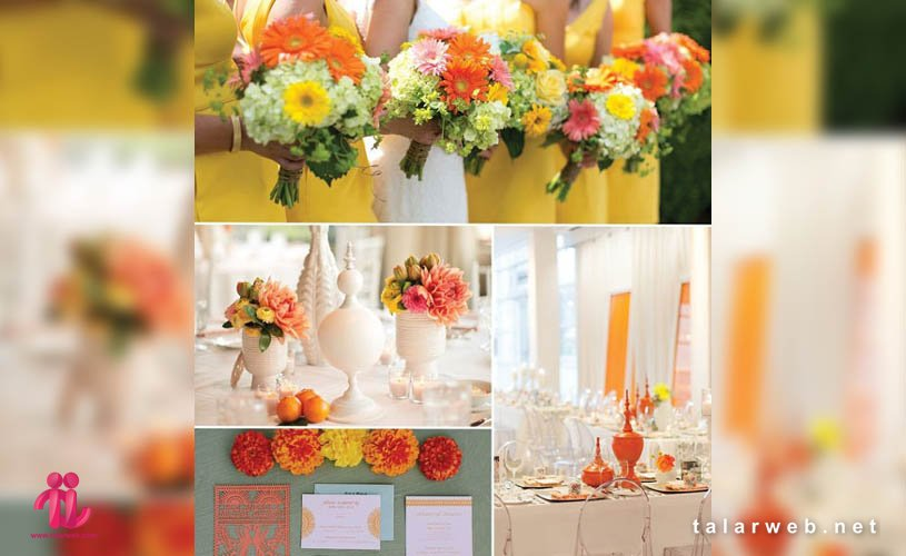 بهترین ترکیب رنگ ها تم عروسی