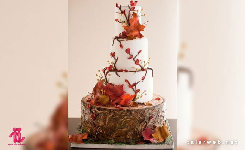 جدیدترین مدل کیک عروسی پاییزی