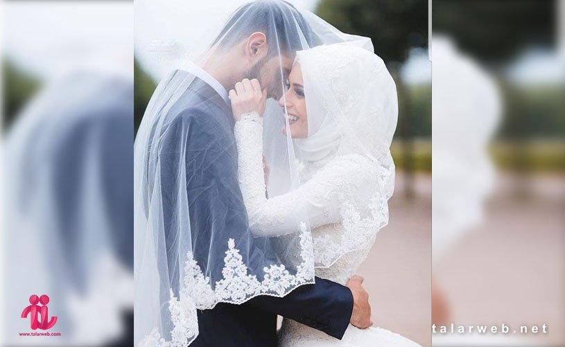 جدیدترین ژست های عروس و داماد محجبه