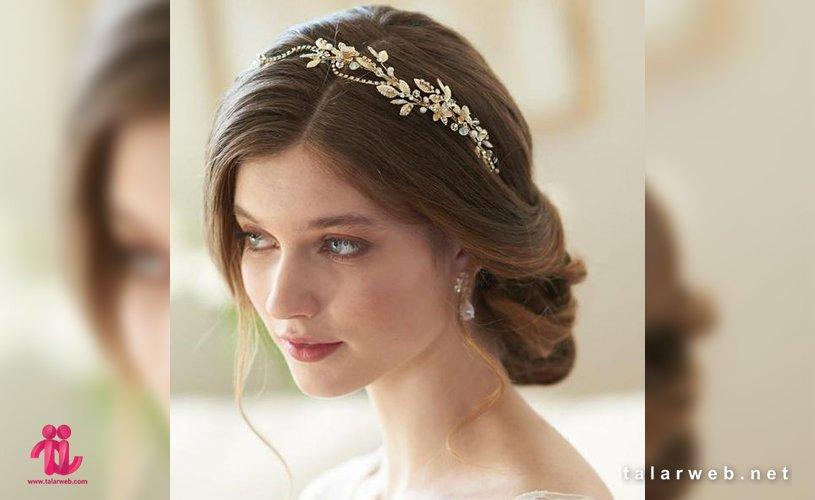 ۲۰ مدل تاج عروس و گل سر عروس