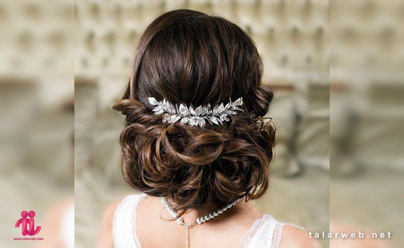 انواع شینیون عروس با موی کم پشت