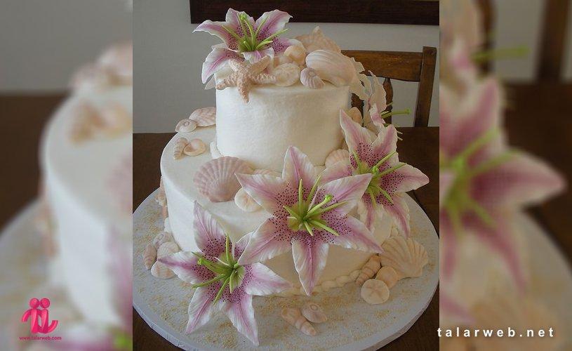زیباترین مدل کیک عروسی تابستانی