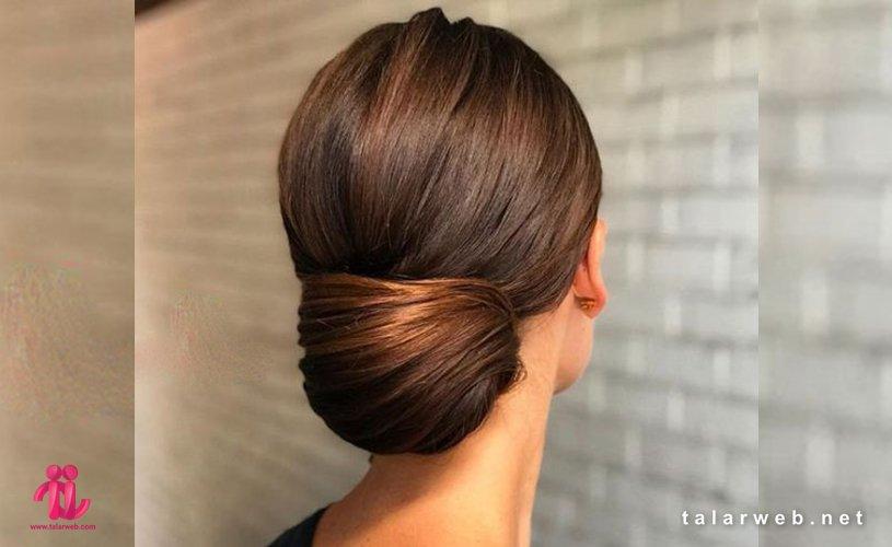 ۲۰ مدل شینیون عروس برای موی کوتاه