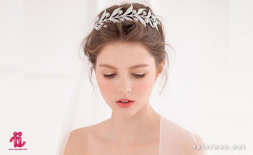 20 مدل تاج عروس و گل سر عروس