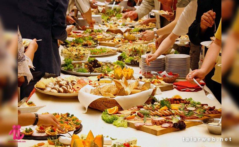 انواع غذای شام عروسی